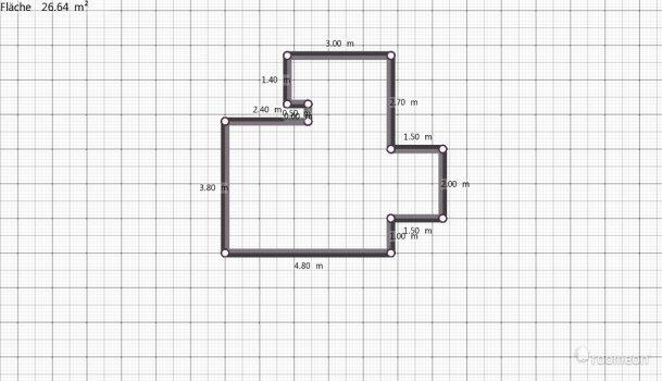 Raumgestaltung Wohnzimmer u. Küche in der Kategorie Wohnzimmer