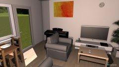Raumgestaltung Wohnzimmer und Küche KK in der Kategorie Wohnzimmer