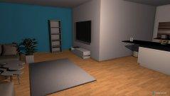 Raumgestaltung Wohnzimmer und Küche ( unfertig ) in der Kategorie Wohnzimmer
