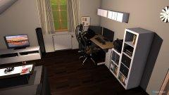 Raumgestaltung Wohnzimmer V2 schwarz Schreibtisch V2 in der Kategorie Wohnzimmer
