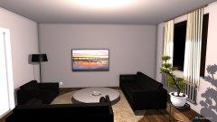 Raumgestaltung Wohnzimmer weiße wand in der Kategorie Wohnzimmer