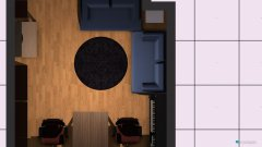Raumgestaltung Wohnzimmer_Arbeitszimmer 3. Option in der Kategorie Wohnzimmer