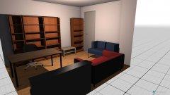 Raumgestaltung Wohnzimmer_Arbeitszimmer in der Kategorie Wohnzimmer