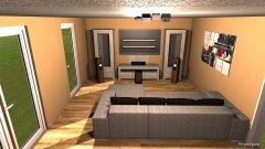 Raumgestaltung Wohnzimmer_Grundriss in der Kategorie Wohnzimmer