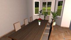 Raumgestaltung Wohnzimmer_mit_erker und Küche in der Kategorie Wohnzimmer