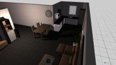 Raumgestaltung Wohnzimmer_offene Küche in der Kategorie Wohnzimmer