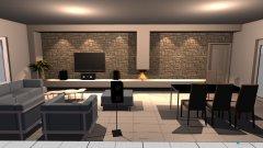 Raumgestaltung woonkamer in der Kategorie Wohnzimmer