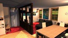 Raumgestaltung WoZi 4 Raumteiler längs, Hifi am Raumteiler in der Kategorie Wohnzimmer