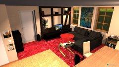 Raumgestaltung WoZi 5 Raumteiler quer an der Wand in der Kategorie Wohnzimmer