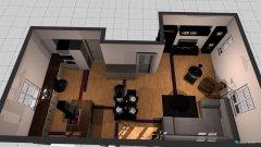 Raumgestaltung WOZi Neu Kochinsel an der wand in der Kategorie Wohnzimmer