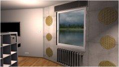 Raumgestaltung Zwei Welten aber nur ein Raum in der Kategorie Wohnzimmer