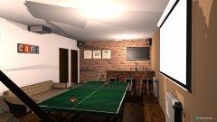 room planning spolocenska miestnost in the category Basement