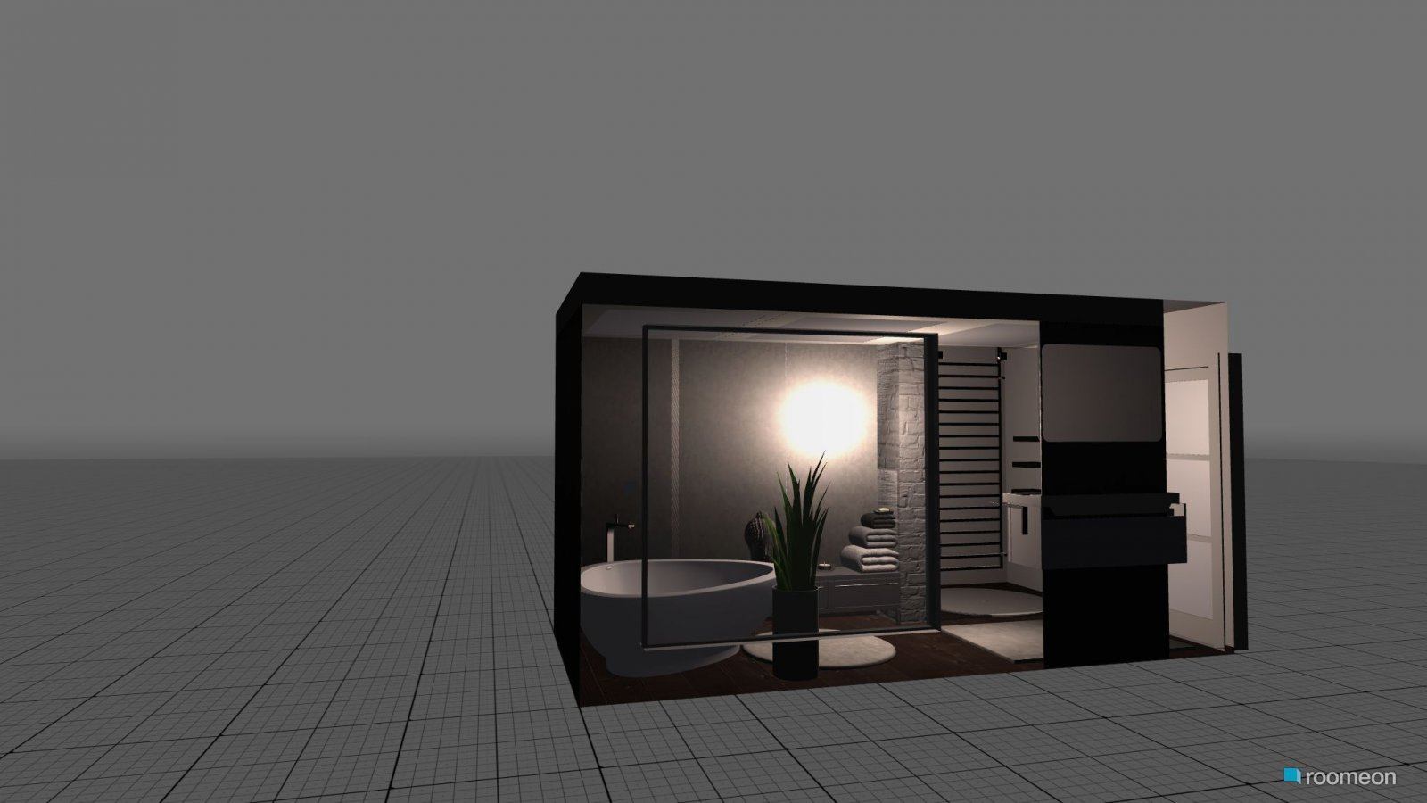 Room Design Badezimmer grau-weiss-braun - roomeon Community