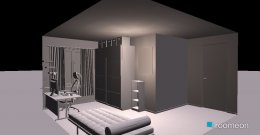 room planning Grundrissvorlage L-Form in the category Bedroom