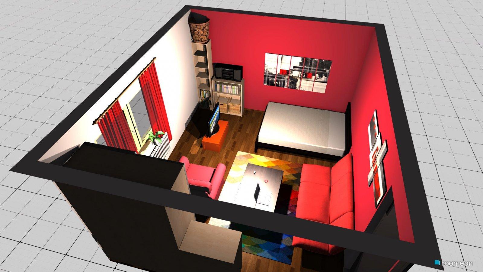 MALM Storage unit, orange - Design and Decorate Your Room in 3D