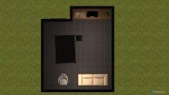room planning wohnen kochen schlafen  in the category Bedroom