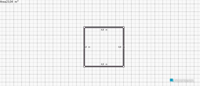 room planning Grundrissvorlage Quadrat in the category Dining Room