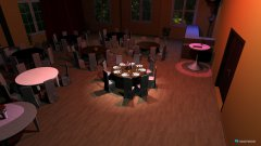 room planning Saal- 50 pax an 6 runden Tischen in the category Dining Room