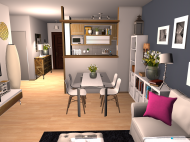 room planning apartamento t1 + 1 in the category Family Room