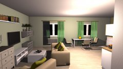 room planning Litevská_ob_kuch in the category Family Room