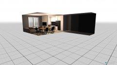 room planning salon z korytarzem  in the category Family Room