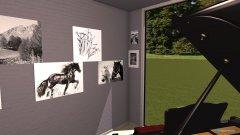 room planning Klavierzimmer modern schwarz weiß in the category Foyer