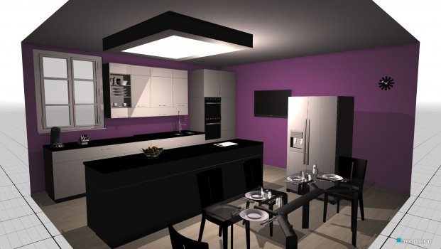 room planning Purple kitchen in the category Kitchen