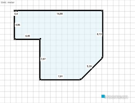 room planning מטבח +סלון +פינת אועל in the category Kitchen