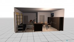 room planning Grundrissvorlage L-Form Plan Kamin in the category Living Room