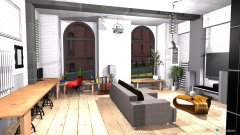 room planning Loft 325 v8 open i osobna sypialnia in the category Living Room
