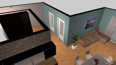 room planning mieszkanie 2 in the category Living Room