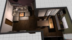 room planning obyvacka+kuchyna in the category Living Room