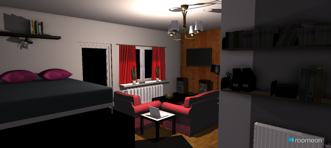 room planning wohnen, schlafen, kochen in the category Living Room