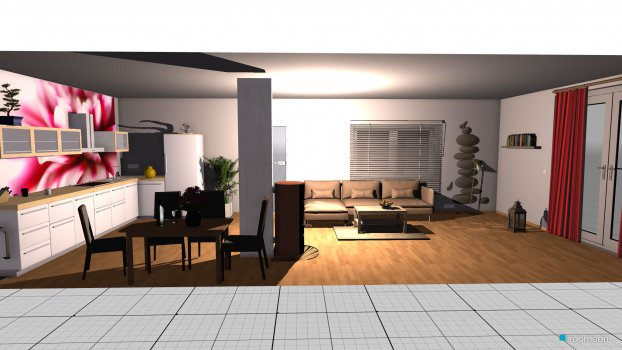 room planning wohnzimmer mit Küche in the category Living Room