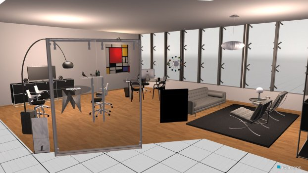 room planning Grundrissvorlage L-Form in the category Office