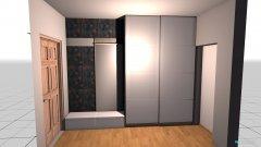 room planning przedpokój 1 in the category Wardrobe